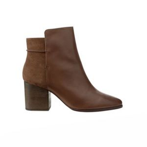 Kate spade Saturday brown mixed media ankle boots